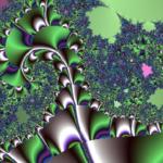 Cascata metallica verde/blu/viola